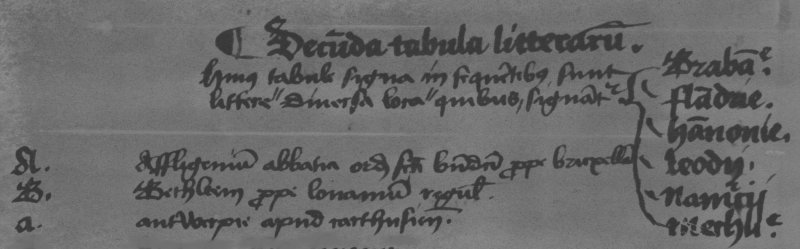 Part of List II (fol. 21 r°), showing the entries for the Benedictines of Affligem, the Canons Regular of Herent near Leuven and the Carthusians of 't Kiel near Antwerp